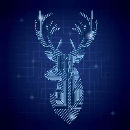 Electronic : Stag shape circuit