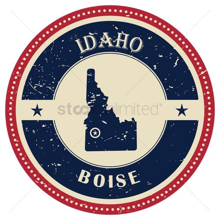 Boise : Stamp of idaho state