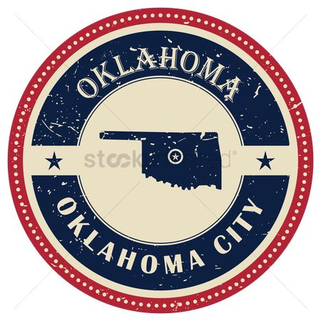 Capital city : Stamp of oklahoma state