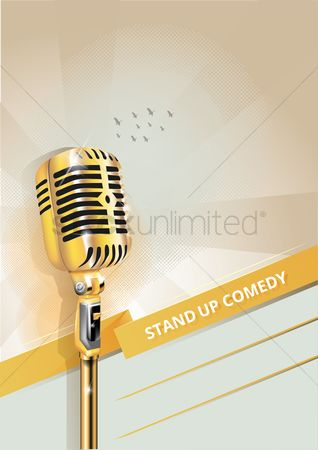 Broadcasting : Stand up comedy poster design