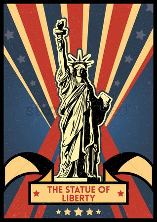 Torch : Statue of liberty poster