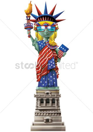 Freedom : Statue of liberty wearing sunglasses