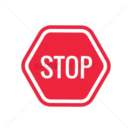 Caution : Stop road sign