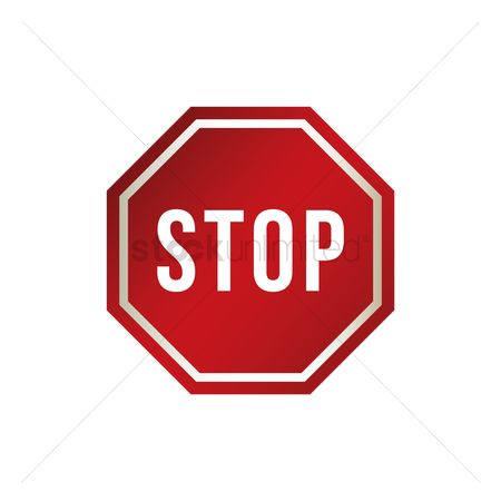 Attention : Stop road sign