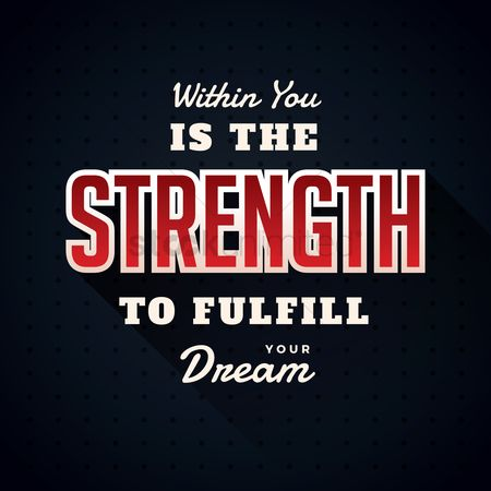 Achievement : Strength typography design