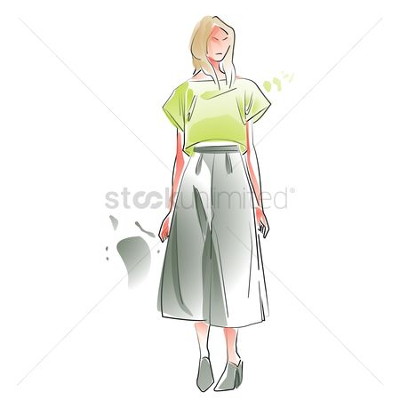 Skirt : Stylish woman