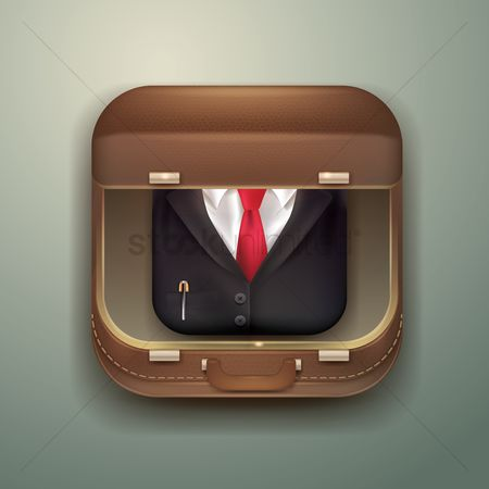 Portfolio : Suitcase with businessman suit