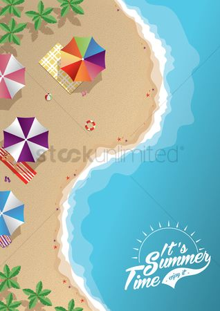 Starfishes : Summer background design