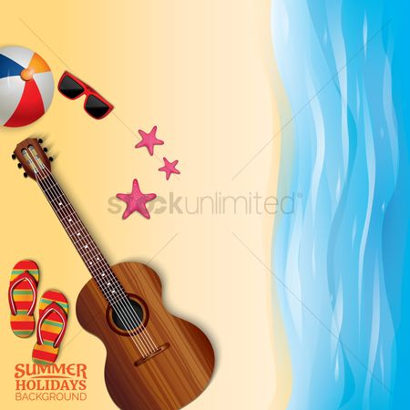 Starfishes : Summer holiday background