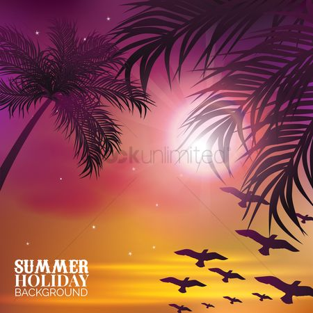 Touring : Summer holiday background