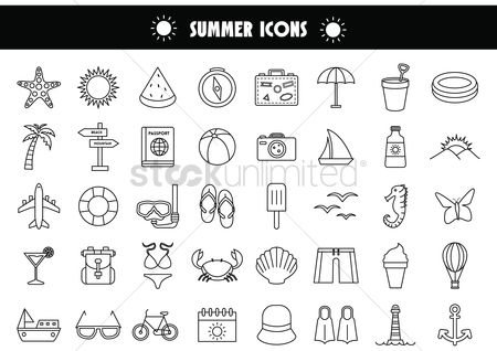 Starfishes : Summer icons
