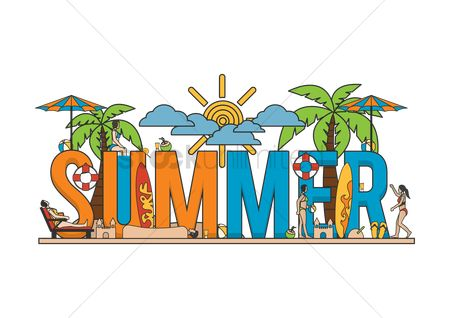 Recreation : Summer lettering design