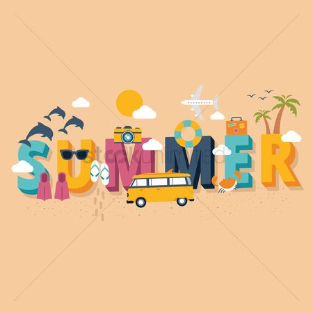 Fonts : Summer lettering design