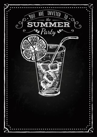 Straw : Summer party invitation design