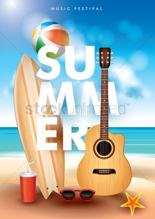 Starfishes : Summer poster design
