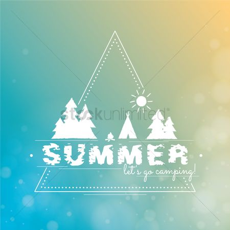 Logs : Summer typography