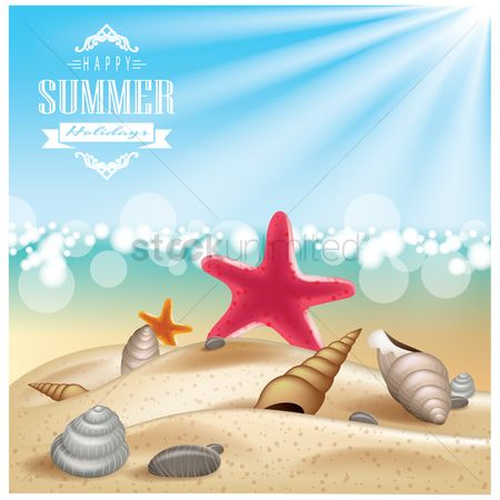 Starfishes : Summer vacations wallpaper