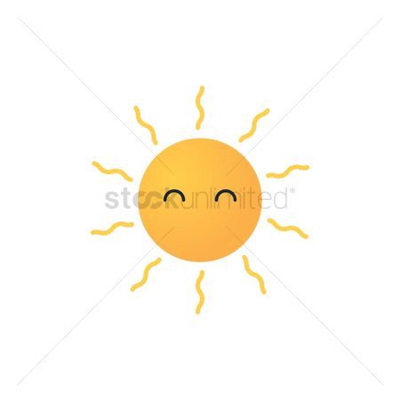 Happy summer : Sun with expression