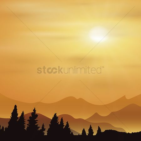 Mountains : Sunrise background