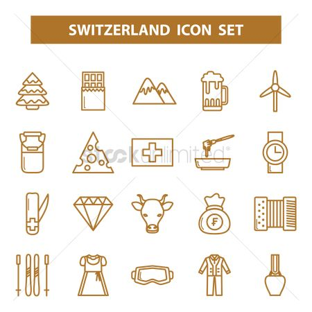 Bull : Switzerland icons