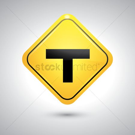 Attention : T intersection sign