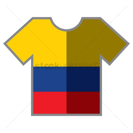 Tshirt design : T-shirts with colombian flag design