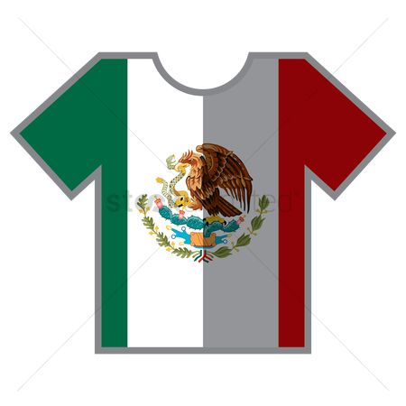 Tshirt design : T-shirts with mexican flag design