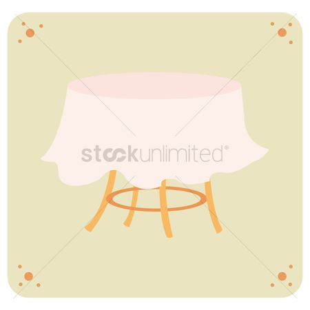 Interior : Table and cloth