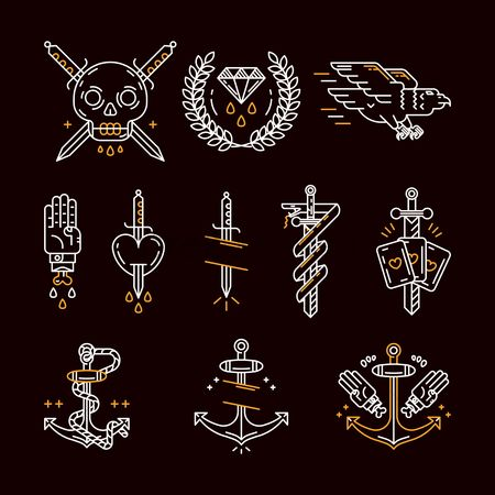 Laurel : Tattoo icon set