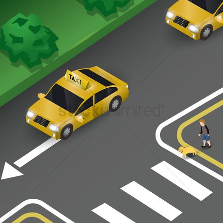 Taxis : Taxi on road