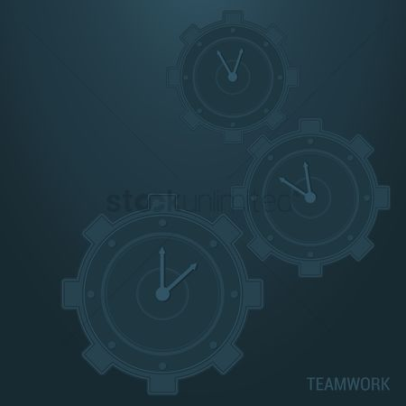 Time : Teamwork background