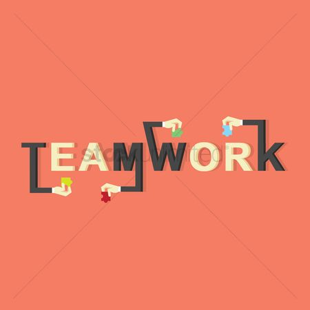 Fonts : Teamwork lettering design
