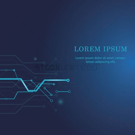 Lorem ipsum : Technical circuit board background
