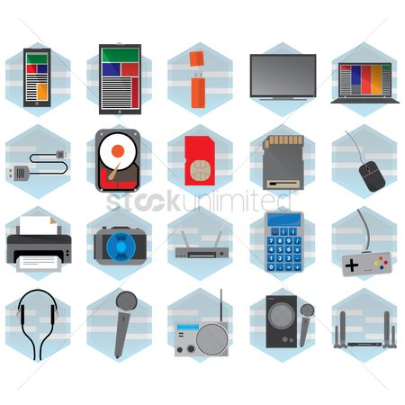 Routers : Technology icons collection