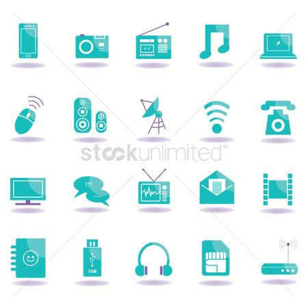 Audio : Technology icons