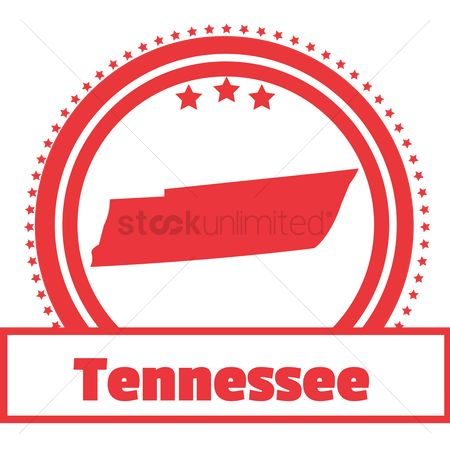 Tennessee : Tennessee state map label