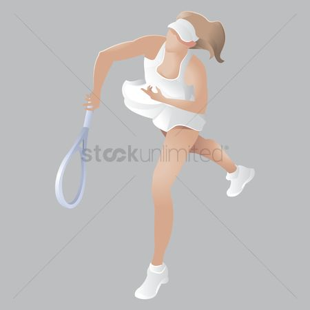 Racket : Tennis player in action