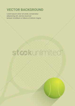 Indoor : Tennis vector background