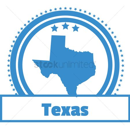 Texas : Texas state map label