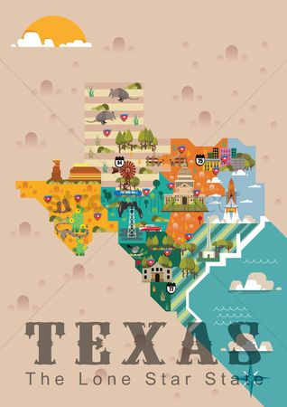 United states : Texas the lone star state