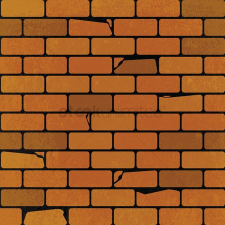 Brick : Textured brick background