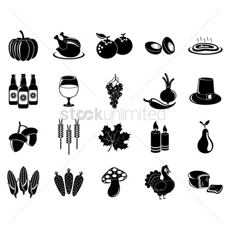 Grapes : Thanksgiving icon set