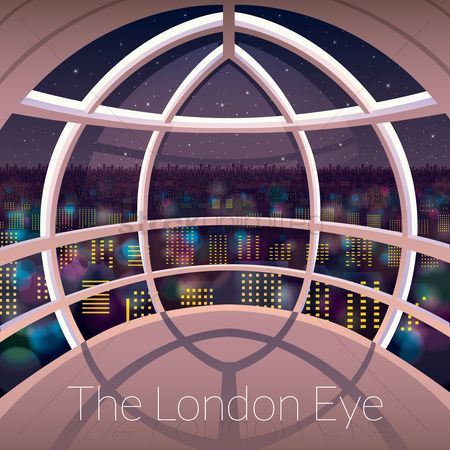 Lighting : The london eye