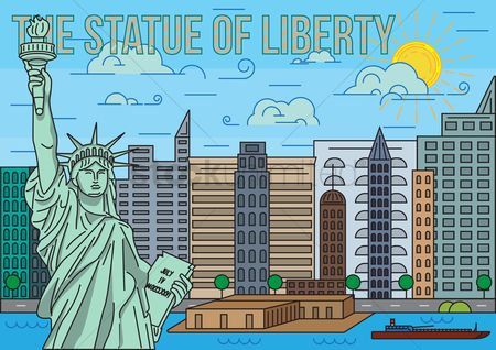 New york : The statue of liberty