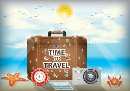 Seashore : Time to travel wallpaper