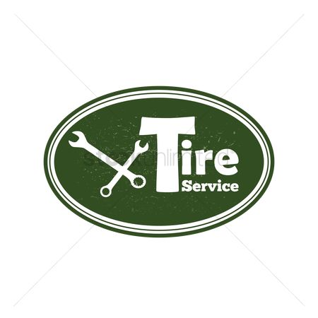 Oldfashioned : Tire service sign