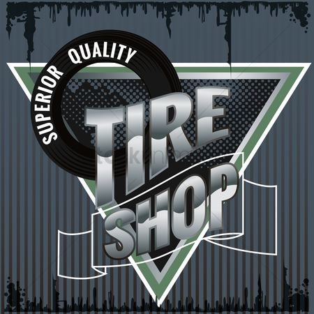 Old fashioned : Tire shop design