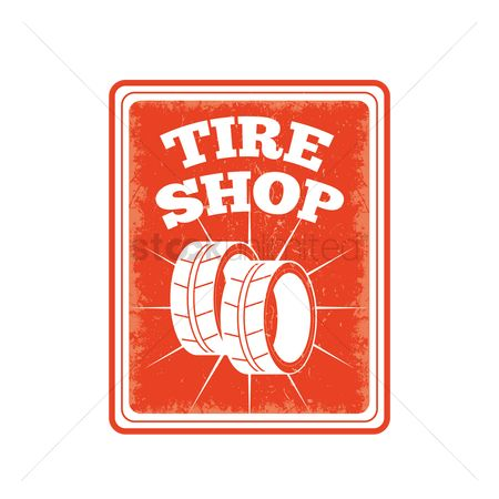 Petroleum : Tire shop sign