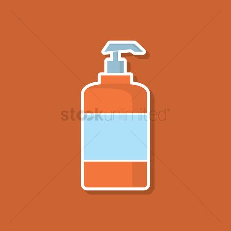 Conditioning : Toiletry press bottle