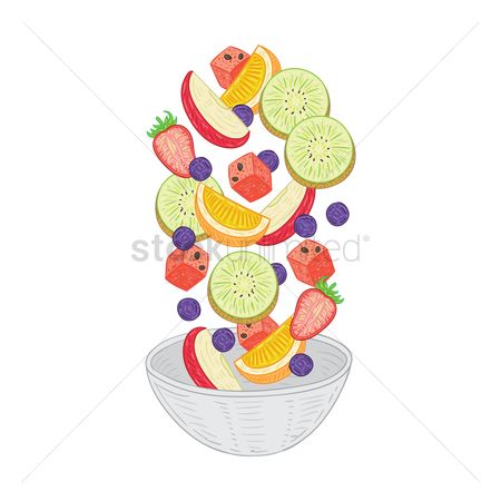 Watermelon slice : Tossed fruit salad
